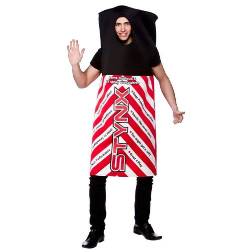 Adult Unisex Funny Stynx Can Costume Outfit for Drink Themed Fancy Dress